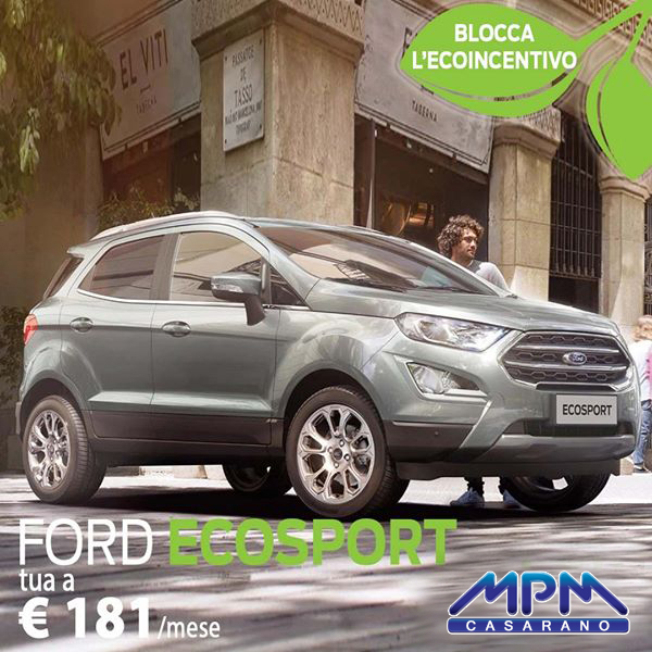 Ford Ecosport a € 181/mese
