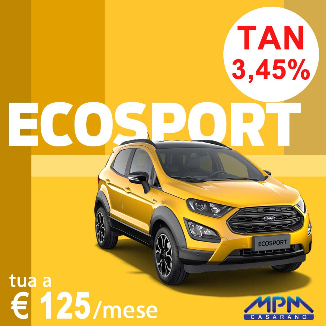 Ford Ecosport a € 100/mese