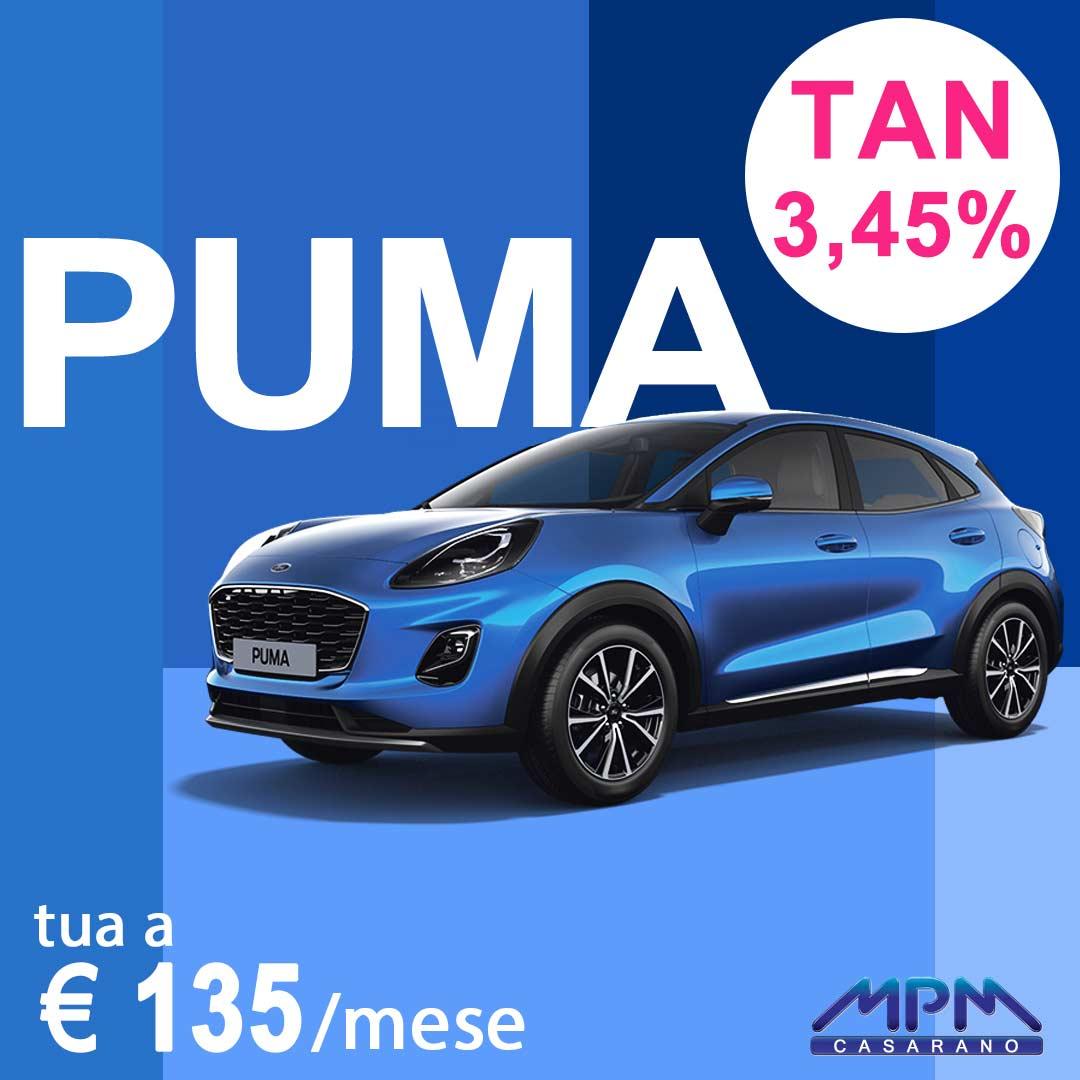 Ford Puma a € 120/mese